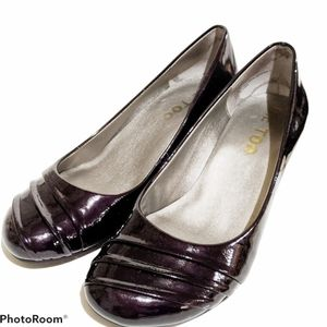 🔴Me Too Nordstrom's violet wedge shoes